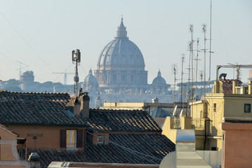 The Dome of the rooftops of Rome - Rome - Italy