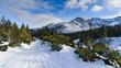 Polish High Tatra mountains in winter