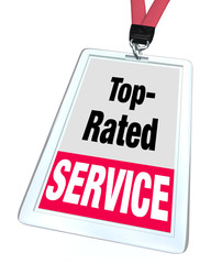 Top Rated Service Employee Badge Name Tag Customer Support