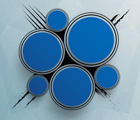 Futuristic blue circles template