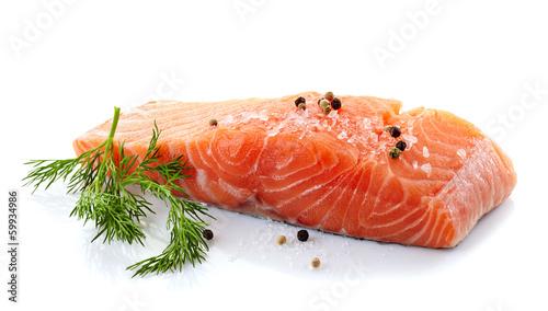 fresh raw salmon - 59934986