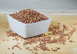 kasha buckwheat groats in a ceramic bowl
