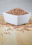 kasha buckwheat groats in a ceramic bowl