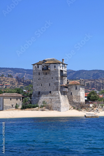 Ouranopoli Tower, Greece near from Holly mountain Athos