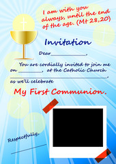 Invitation to the First Communion (scalable to A4)