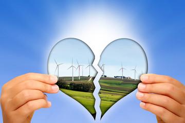 Amore per l'ambiente ed energia pulita