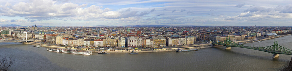 Panorama of Budapest city, Hungary