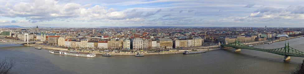 Panorama of Budapest city, Hungary