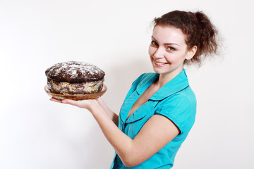 woman with homemade pastry