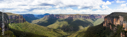Fotobehang Canyon Grose Valley in Blue Mountains Australia