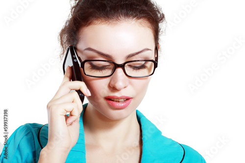 woman use cell phone