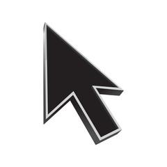 cursor 3d icon black