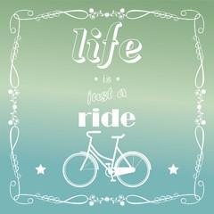 Vintage bicycle background, vector illustration