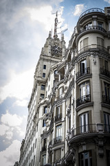 Gran Via, Image of the city of Madrid, its characteristic archit