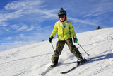 young girl skiing