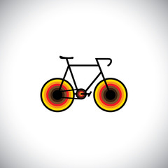 colorful abstract mountain bike or cycle icon - vector graphic
