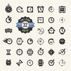 Web icon set - time, alarm, clock