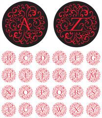 Ornate Swash Alphabet