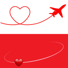 Plane and Heart