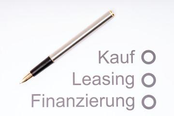 Finanzierung eines Autos