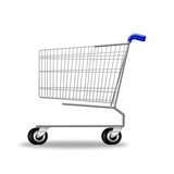 Shopping cart on white background. illustration