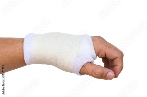 hand splint for broken bone treatment isolated