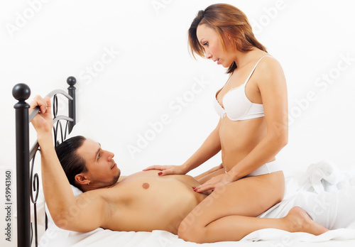 woman  having sex with man