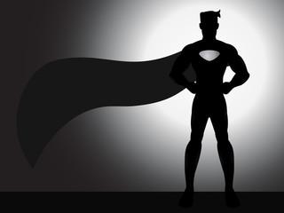 Standing Superhero Silhouette