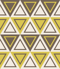 Fashion pattern with triangles