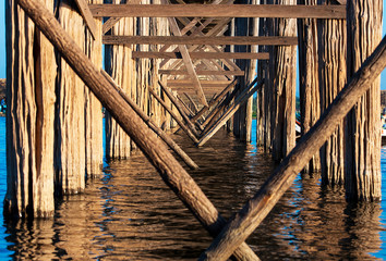Bridge U-Bein teak bridge is the longest