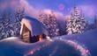 wooden house as Santa Claus - 59945773
