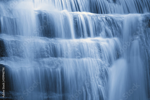 Panel Szklany waterfall with soft water in spring