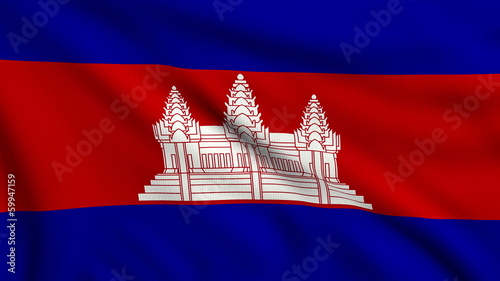 Flag of Cambodia looping