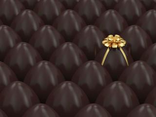 Chocolate Easter Egg Conceptual Image