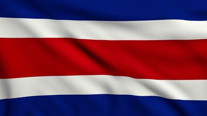 Flag of Costa Rica looping