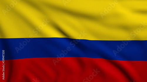 Flag of Colombia looping