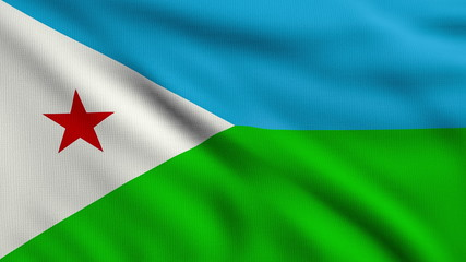 Flag of Djibouti looping