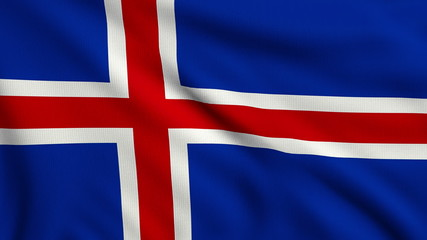 Flag of Iceland looping
