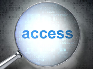 Safety concept: Access with optical glass