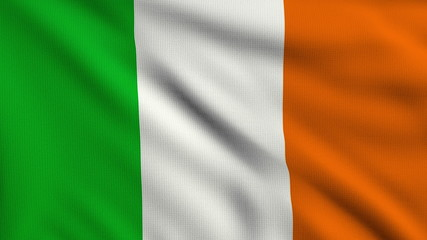 Flag of Ireland looping