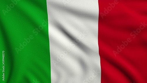 Flag of Italy looping
