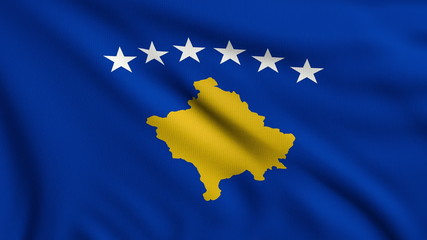 Flag of Kosovo looping