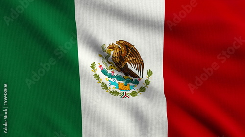 Flag of Mexico looping