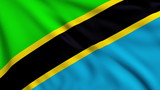 Flag of Tanzania looping