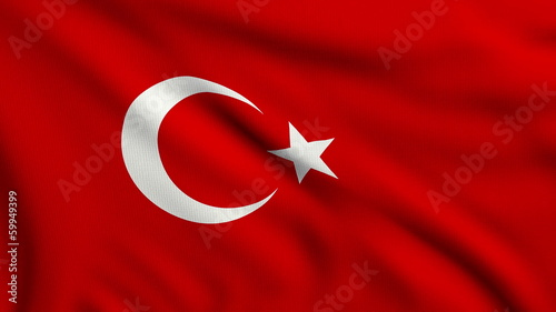 Flag of Turkey looping