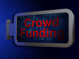Business concept: Crowd Funding on billboard background