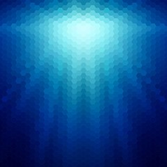 Abstract background with rays of hexagons
