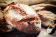 Ttraditional bread in rustic setting