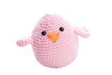 pastel pink handmade stuffed animal chick