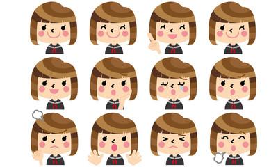女子学生の表情